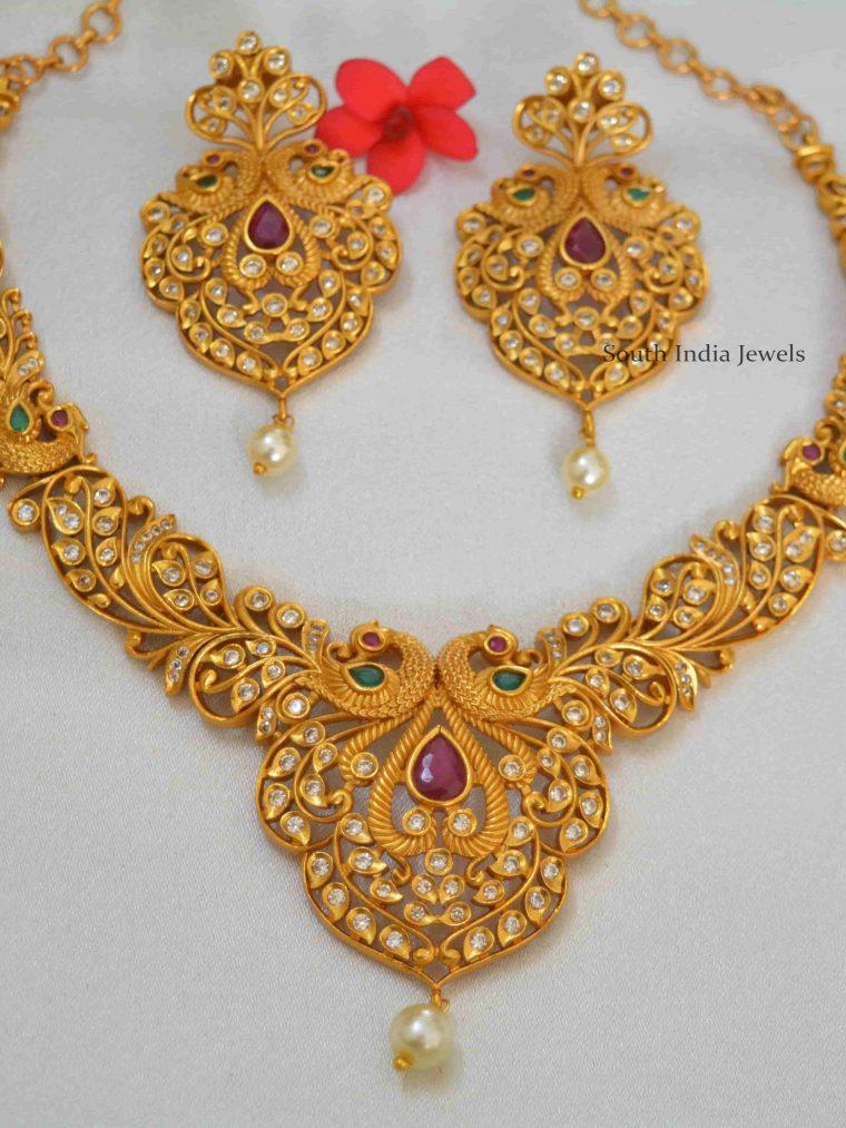 Stunning Peacock Designer Multicolor Necklace