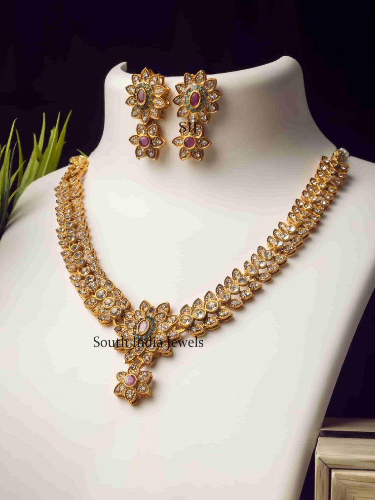 Stunning Stone Studded Necklace Set