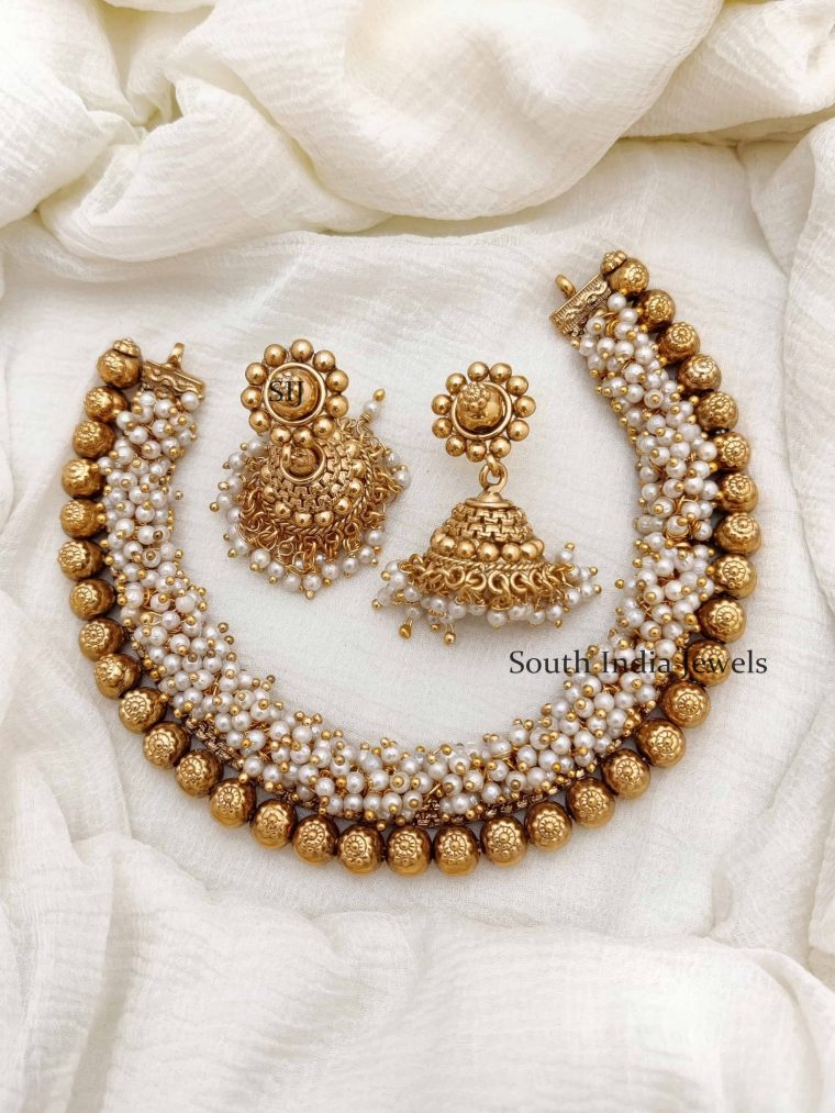 Traditional Antique Pearl Necklace