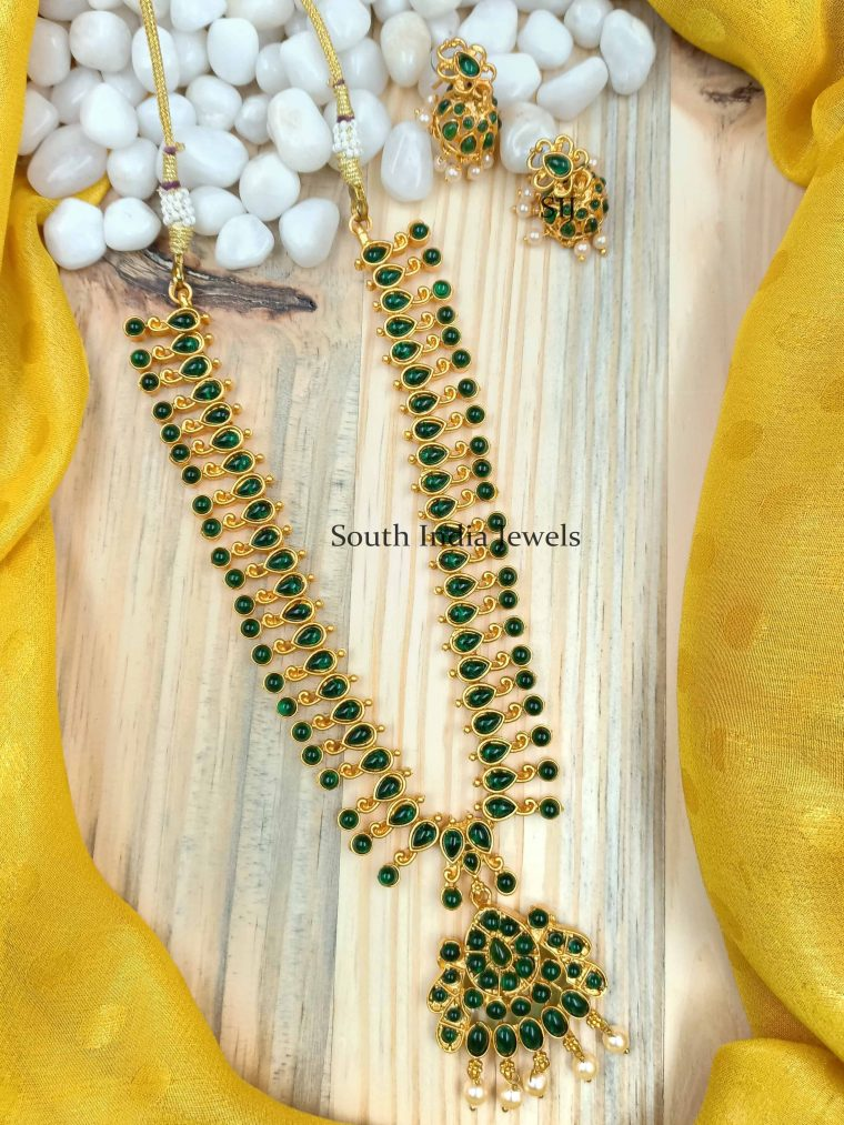 Traditional Green Kemp Stone Necklace