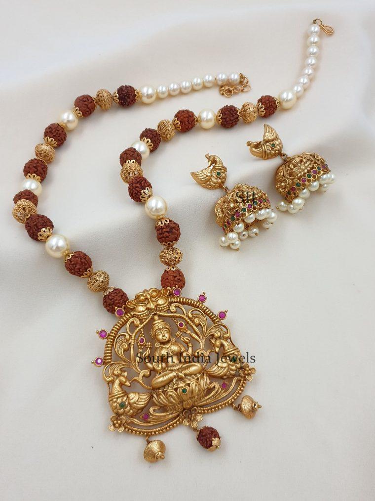 Traditional Lakshmi Dual Peacok Designer Haram (2)