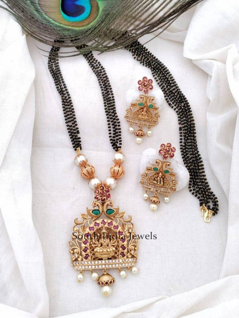 Traditional Lakshmi Pendant Mangal Sutra