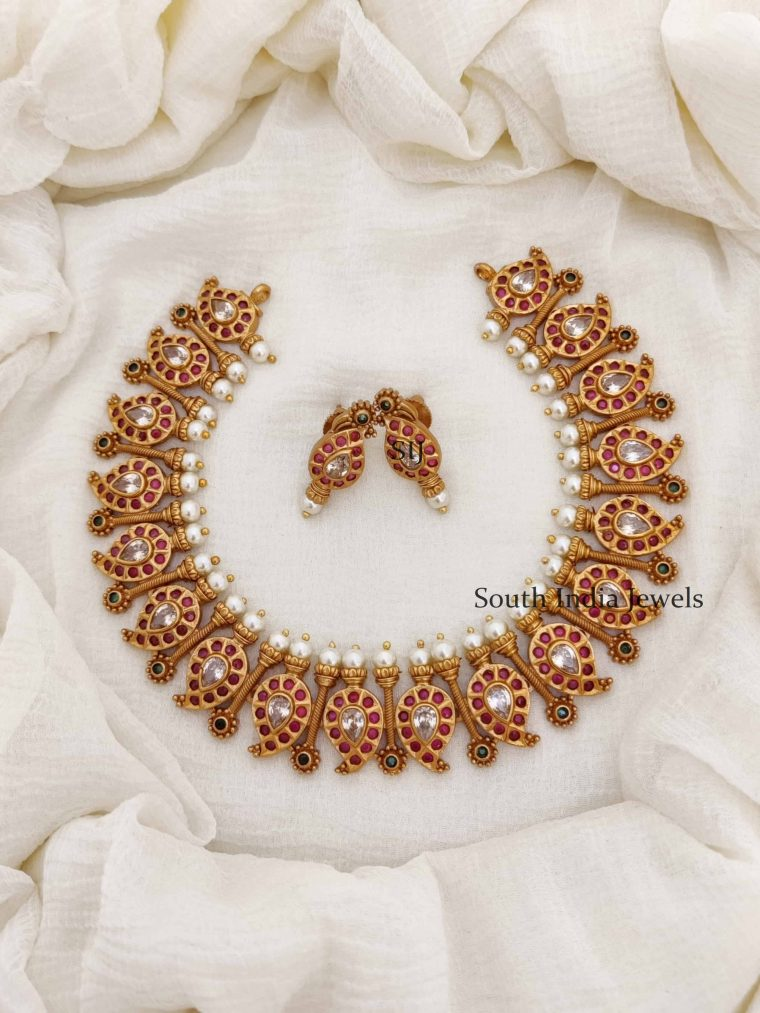 Traditional Mango Design Necklace