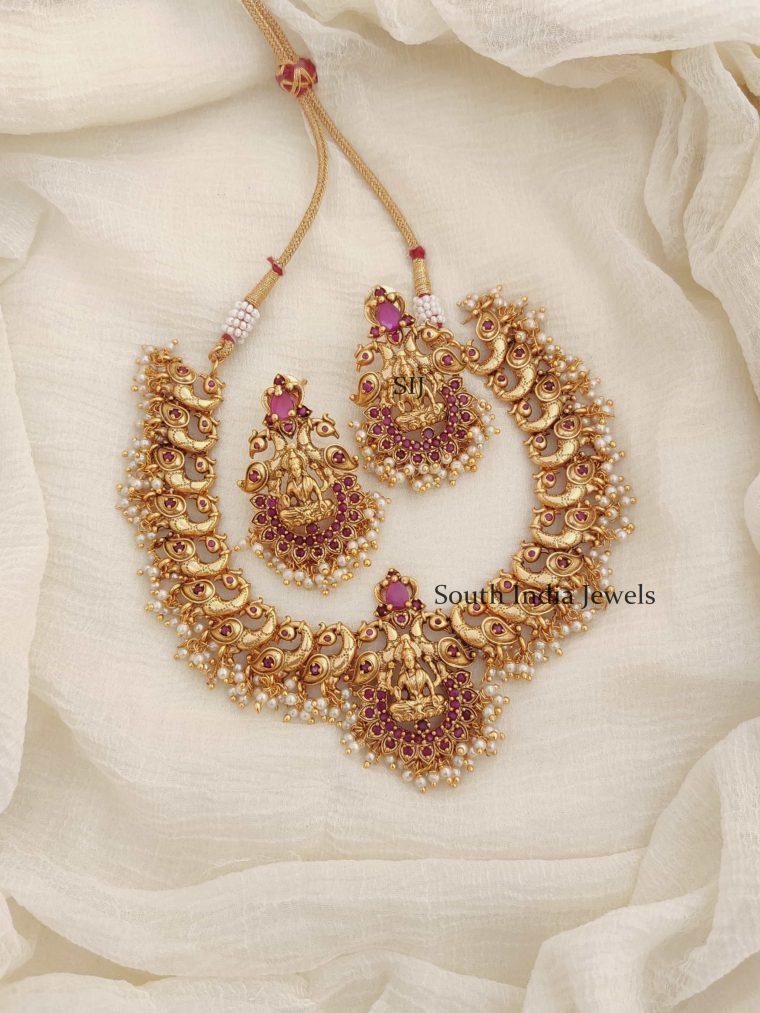 Trandy Lakshmi Peacock Necklace