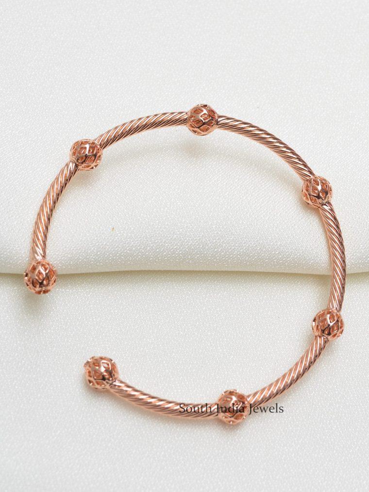 Trendy Rose Gold Kada Bracelet