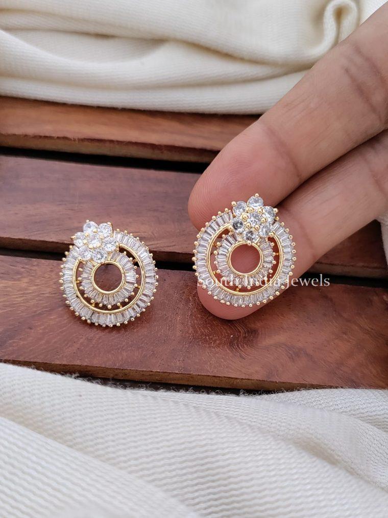 Unique CZ Stone Bali Ear Ring