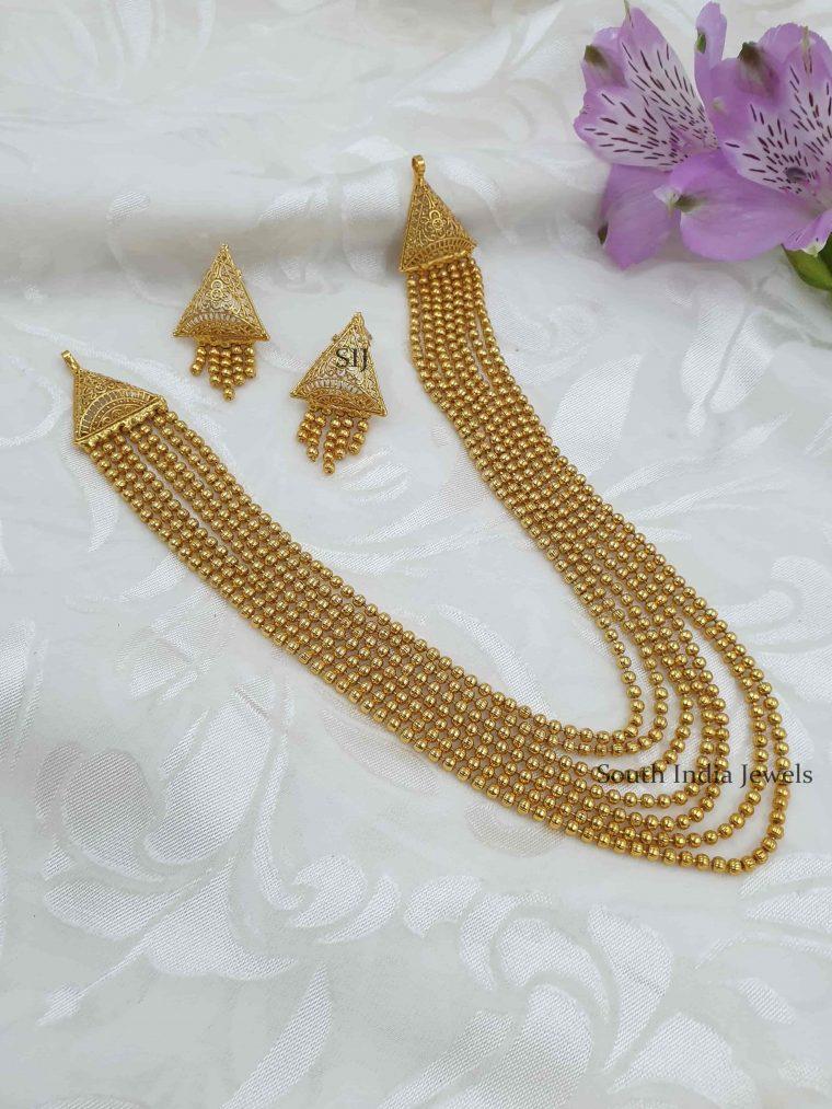 Unique Multi Layered Antique Necklace Set