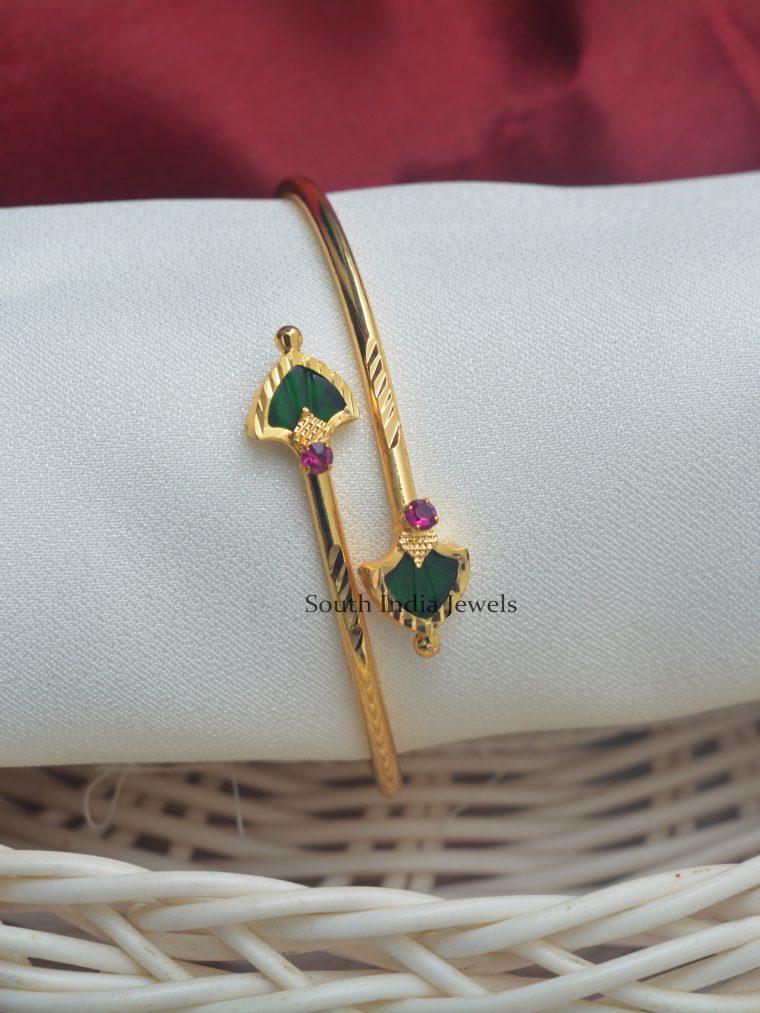Unique Palaka Stones Kada Bracelet