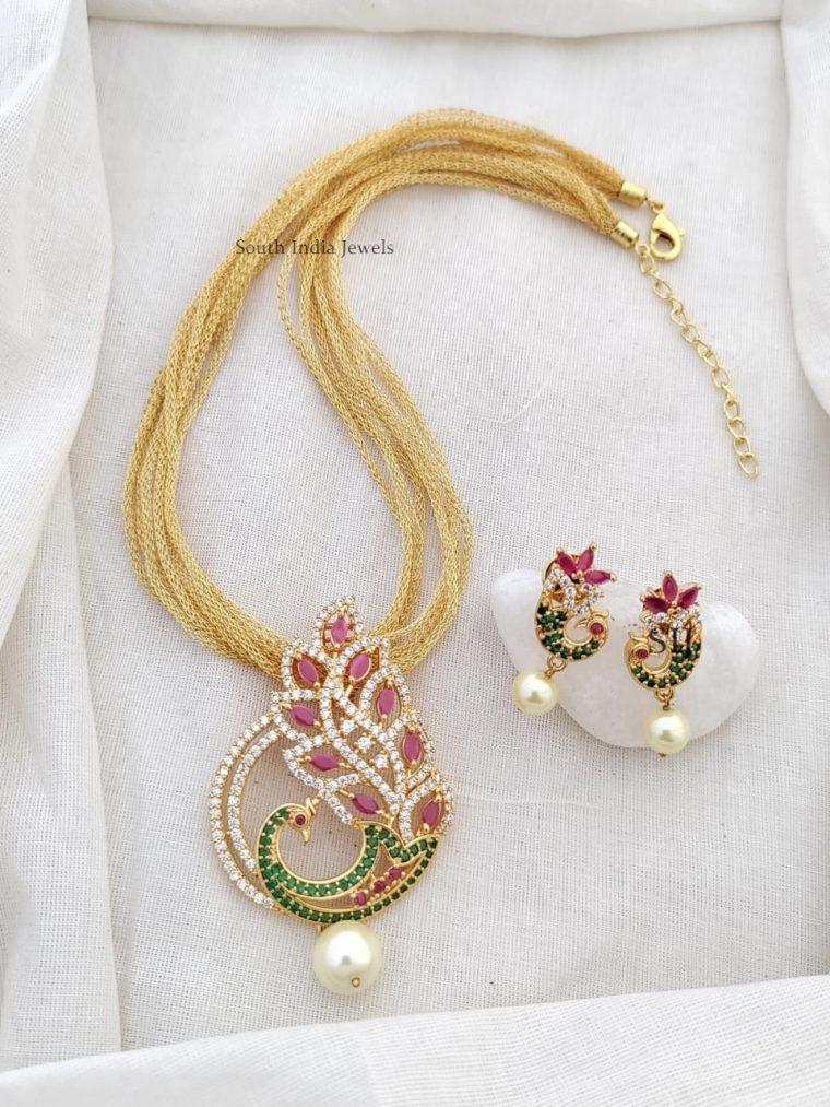 Unique Peacock Multi Layered Necklace