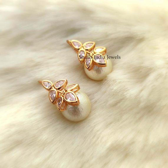 White & Ruby Pink Hoop Earrings (3)