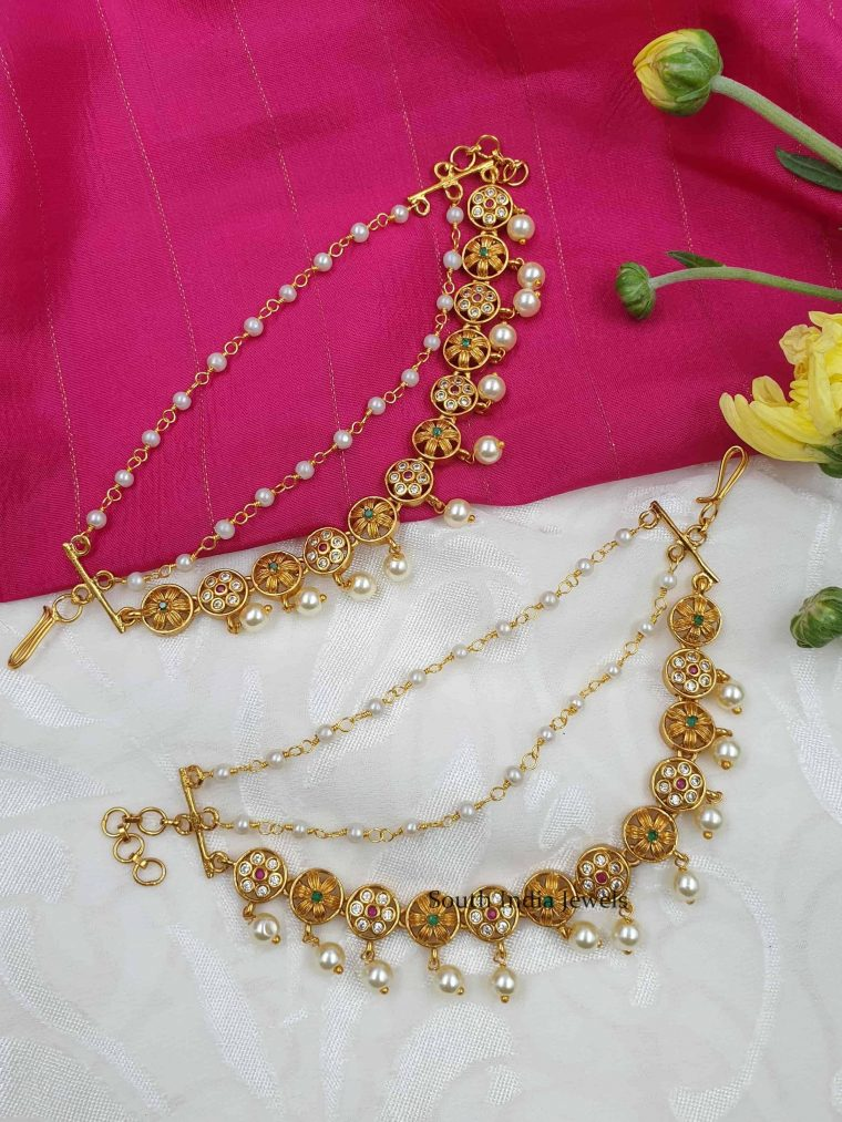 Amazing Floral Design Ear Chain