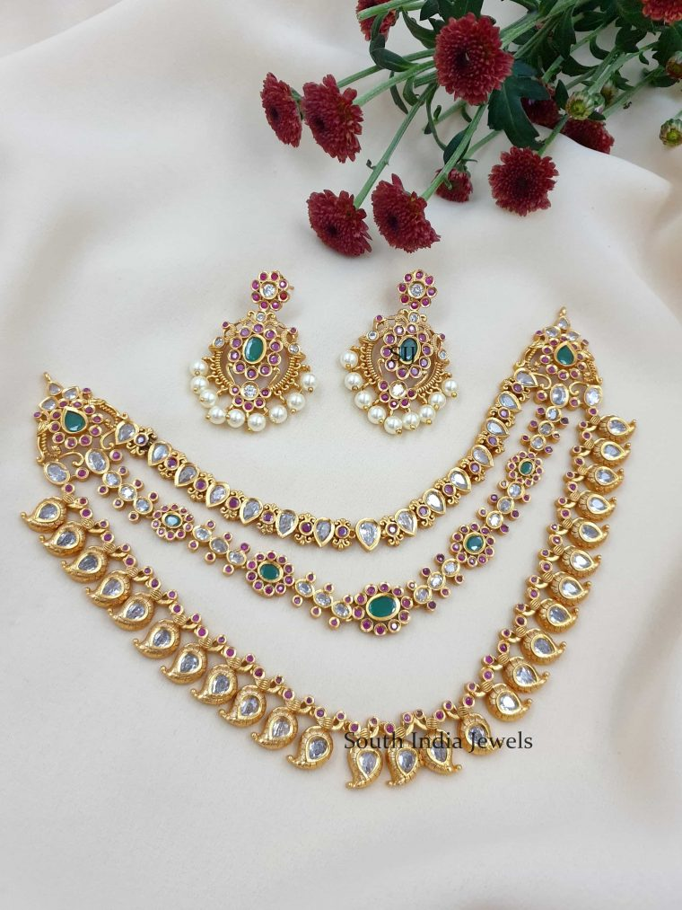 Amazing Three Layers Bridal Necklace