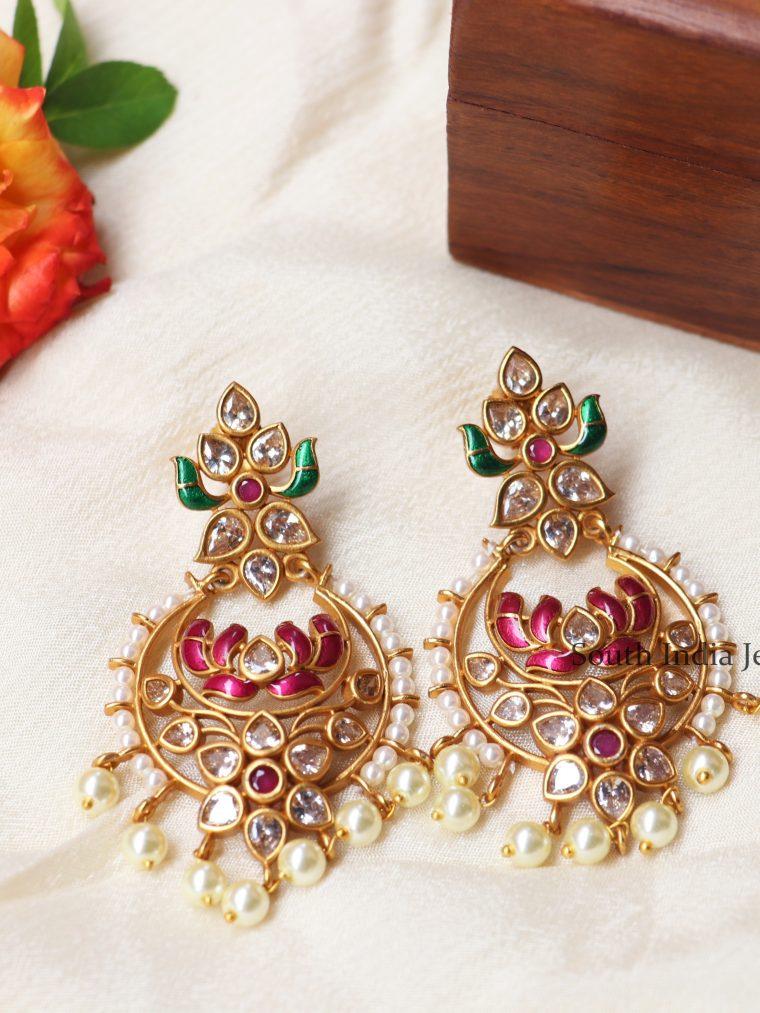 Attractive Lotus Flower Earrings (2)