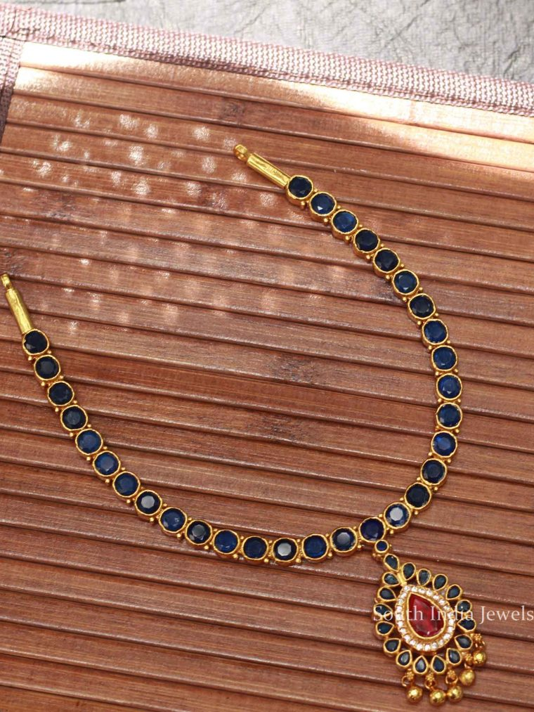 Beautiful Blue Silver Necklace