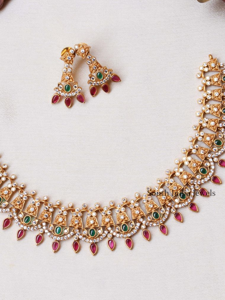 Beautiful Gold Plated Necklace Set (2)