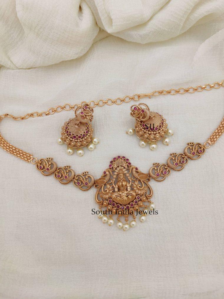 Beautiful Lakshmi & Peacock ChokerS