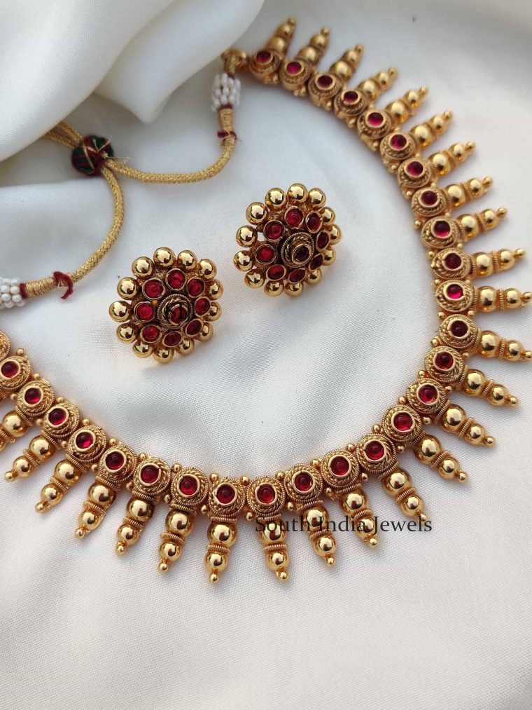 Beautiful Ruby Stone Necklace Set (2)