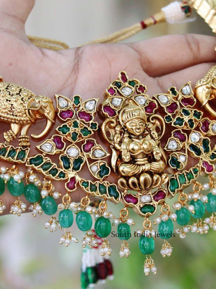 Bridal Lakshmi & Elephant Design Choker