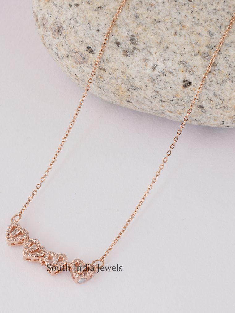 Classic Rose Gold Pendant Chain (2)