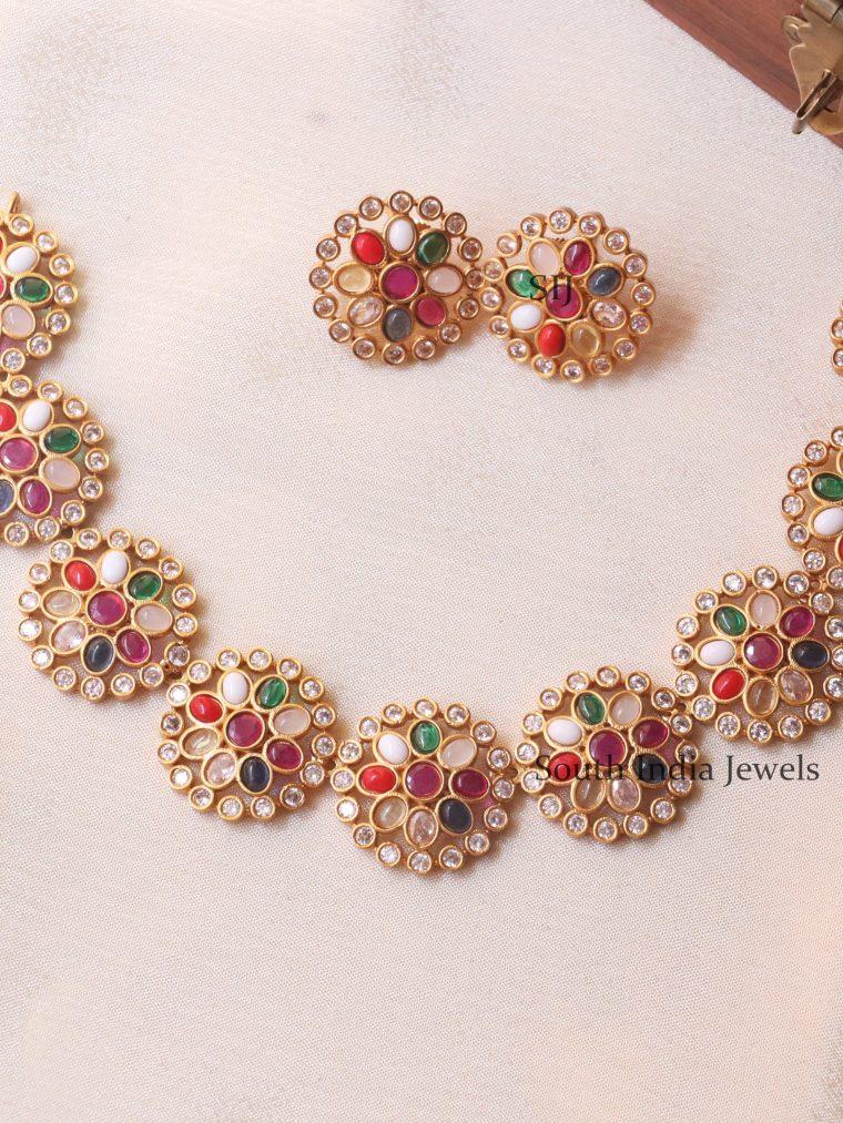 Cute Multicolor Floral Necklace (2)