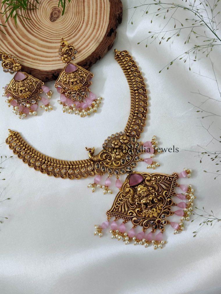 Elegant Lakshmi Design Necklace (2)