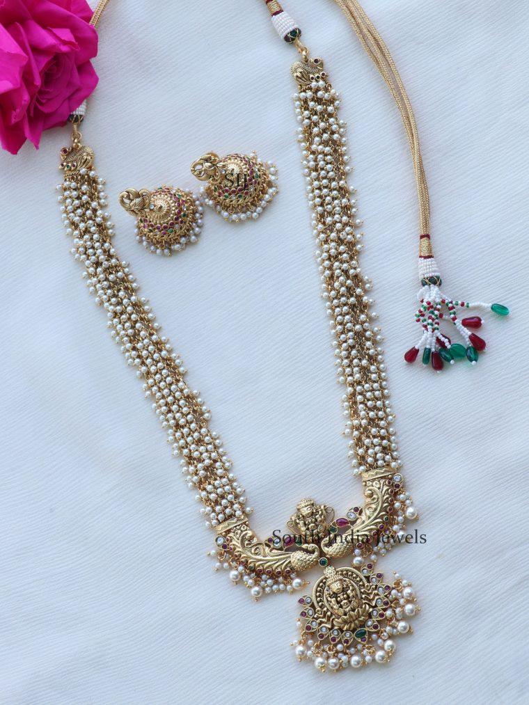 Exquisite Gold Finish Lakshmi Haram