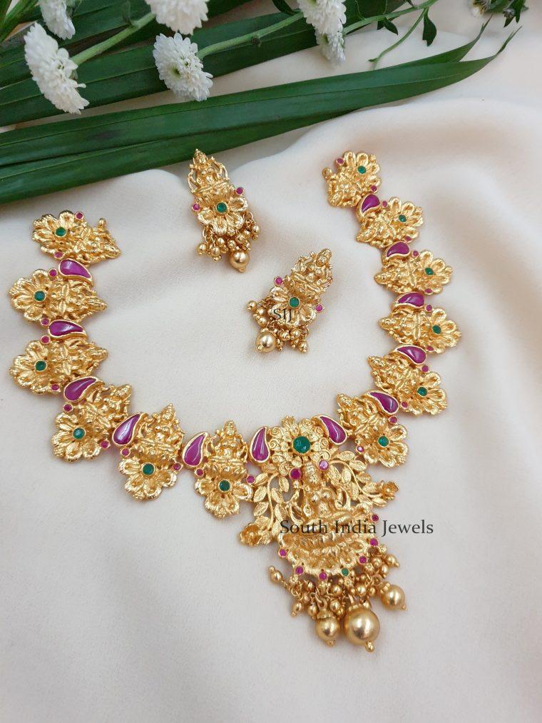 Gorgeous Gold Replica Laxshmi Necklace