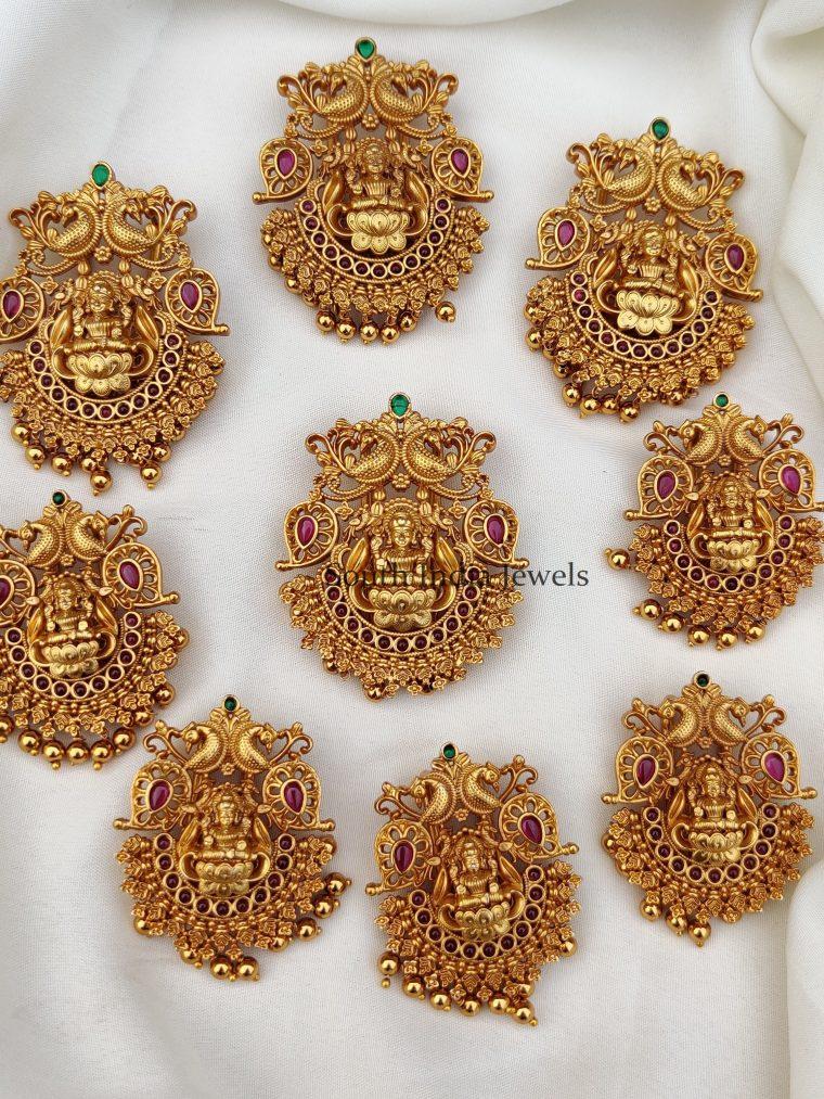 Gorgeous Lakshmi Design Jada Billai set