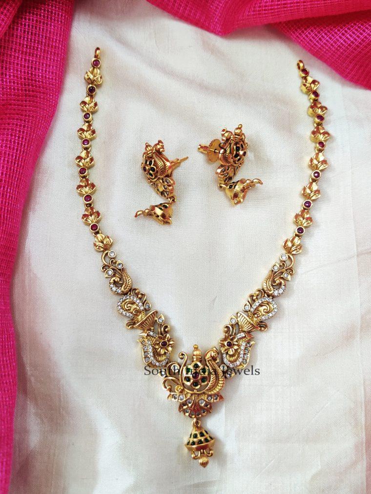 Gorgeous Multi Stone Floral Necklace