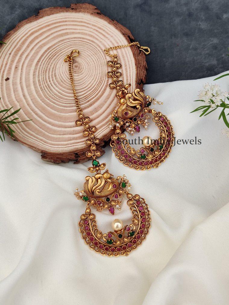 Gorgeous Peacock Design Earrings