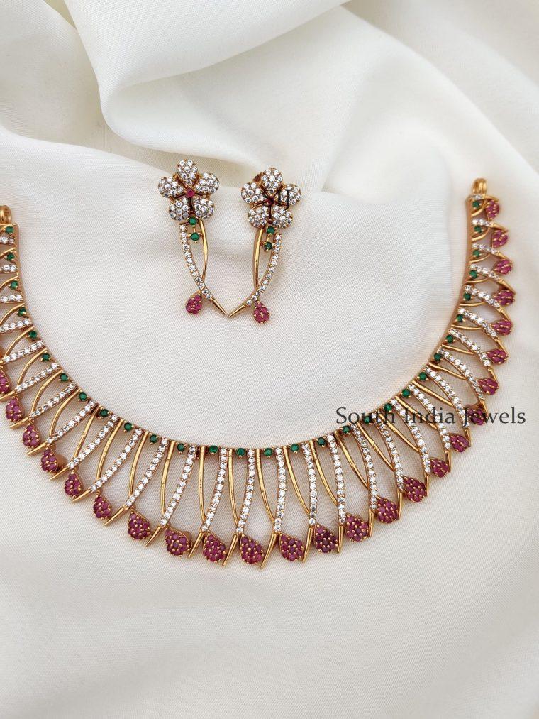 Multicolor Floral Design Necklace (2)