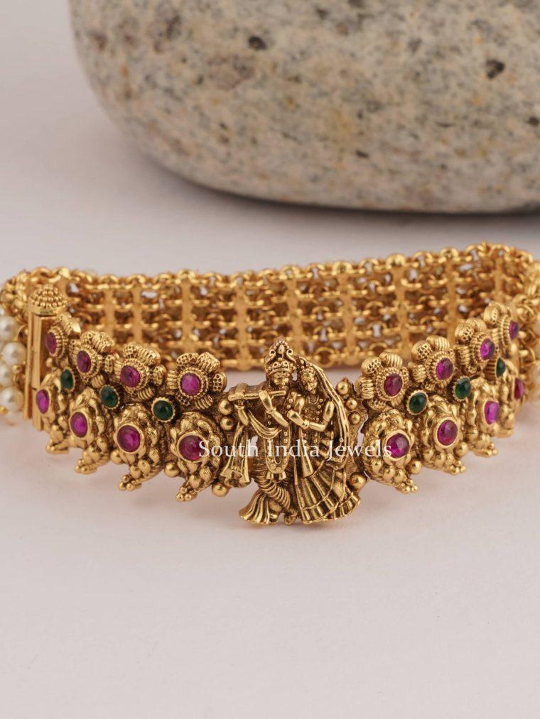 Radha Krishan Chain Pearl Bracelet