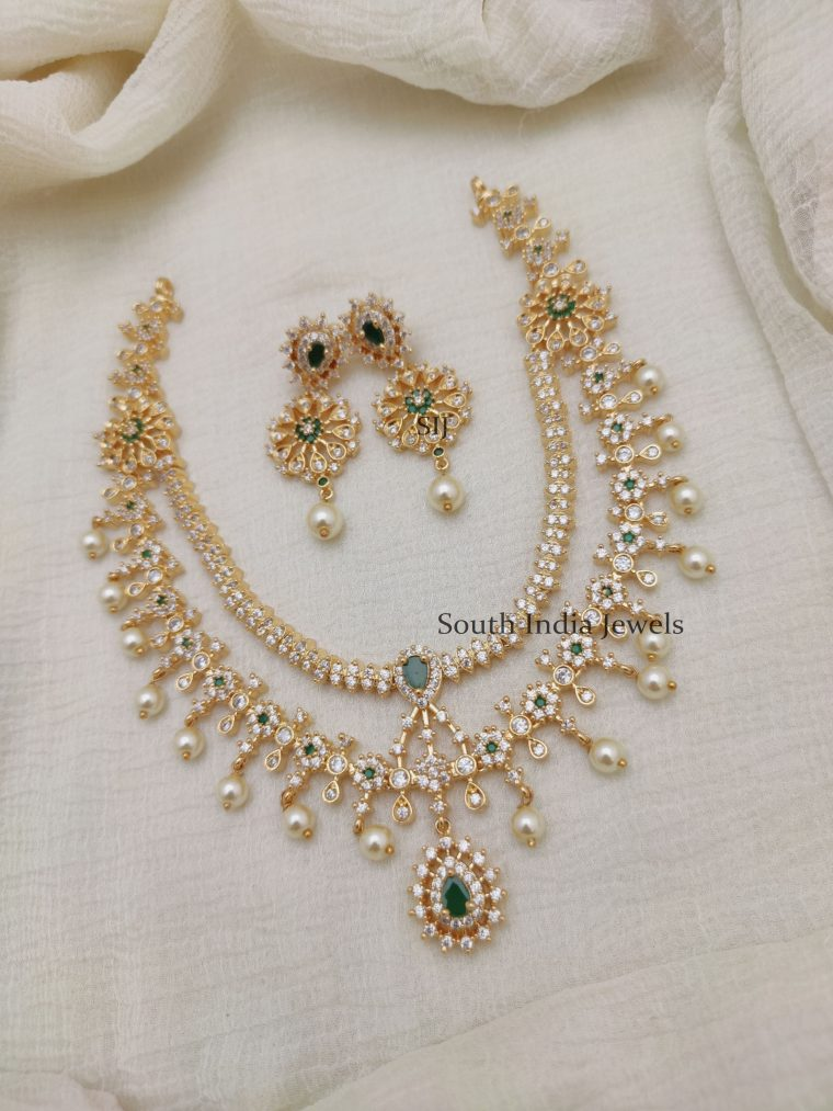 Rich Dual Layers AD Stones Necklace (2)