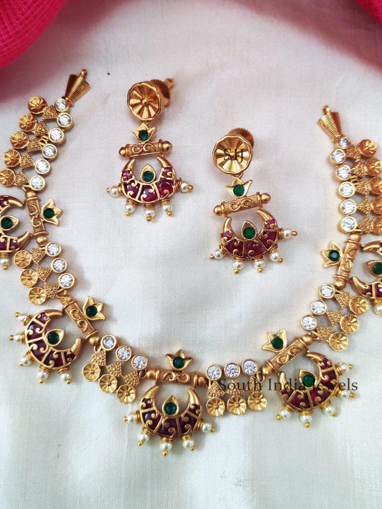 Rich Kemp Green Chandbali Necklace (3)