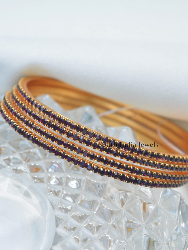 Stunning Colorful Gold Finish Bangles