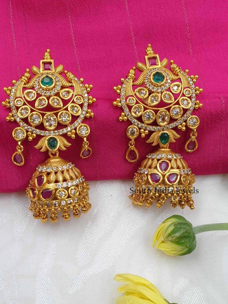 Stunning Floral Design Jhumkas