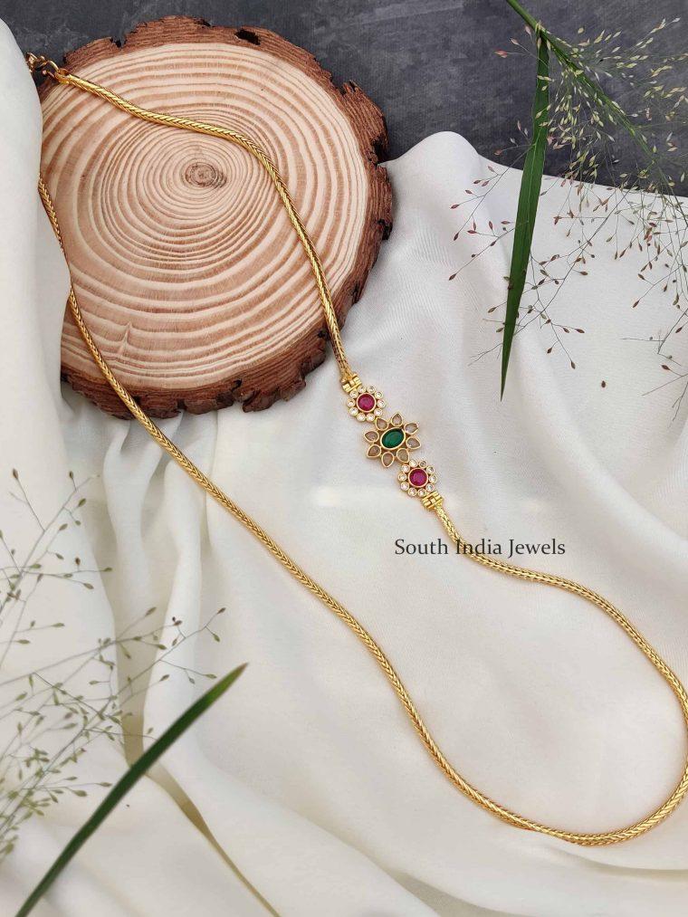 Stunning Floral Design Mugappu Chain