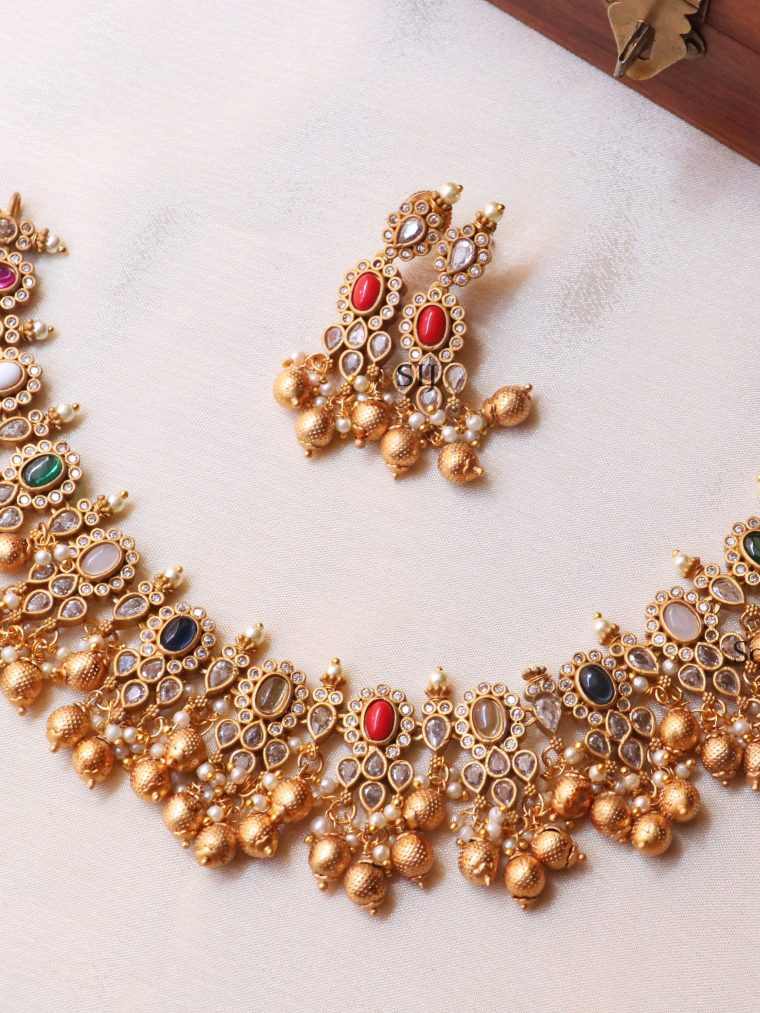 Stunning Gold Beads Necklace