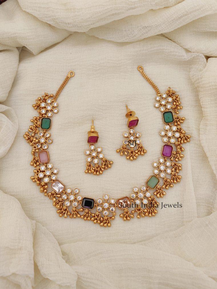 Stunning Multi Stone AD Necklace