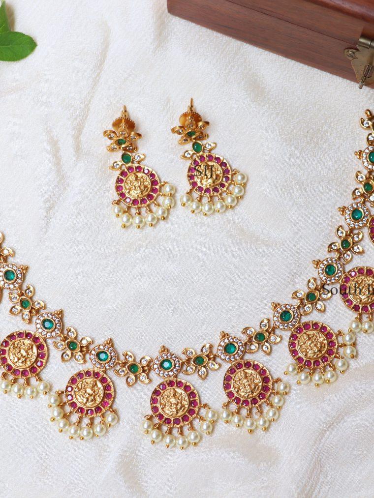 Traditional Multicolor Lakshmi Necklace