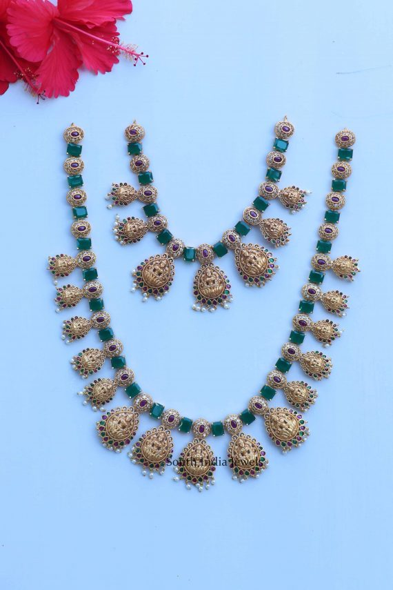 Trendy Lakshmi Design Ruby Stones Combo Set