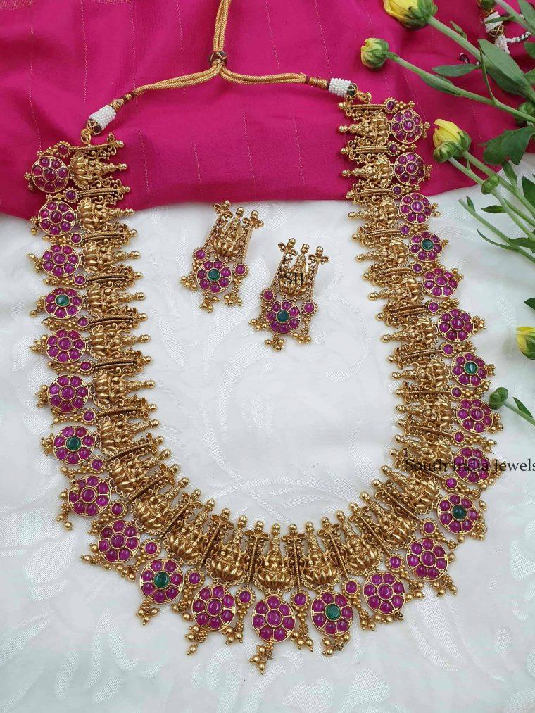 Unique Lakshmi Design Long Haram