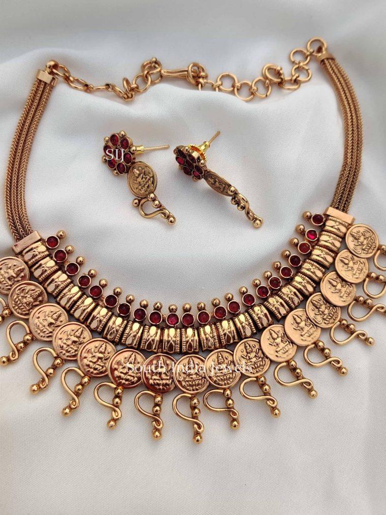 Unqiue Kemp Stone Lakshmi Necklace